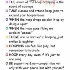 These are my rules when it comes to hooping