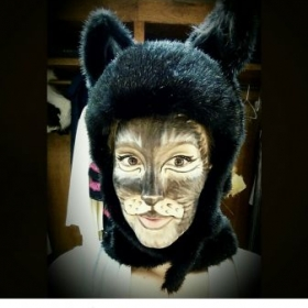 "Me as the cat Mrs. Gomfit in ""The English Cat"" by Hanz Werne, fun show!"