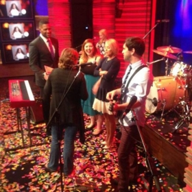 Playing live on Kelly & Michael.