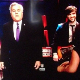 Playing live on The Tonight Show with Jay Leno.