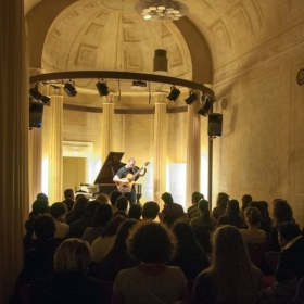 Performing at the Music History Museum in Bologna Italy