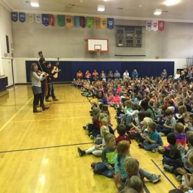 Elementary school outreach in Walton, NY with Mile Twelve