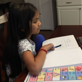 My Hindi student enjoying her hindi lesson online with her teacher Prajakta