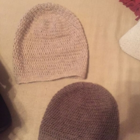 Wool Hats! Simple design, but we can make them multicolored