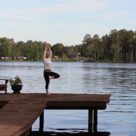 Is your life in balance? Yoga by the lake in Tarpon Springs, FL