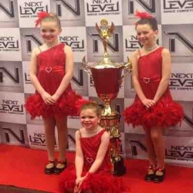 Grades 2-3 competitive tap at Next Level Dance Competition