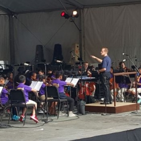 Conducting BRAVO at the 2015 Waterfront Concert. – Portland, Ore.