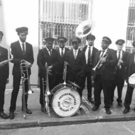 This is my Brass Band on the set of NCIS New Orleans.