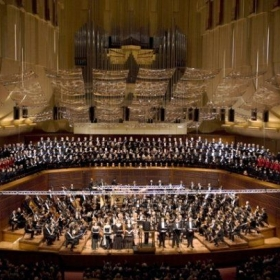 A snap shot of San Francisco Symphony's performance of our three time grammy award winning CD of Mahler's 8th Symphony.