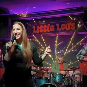 Performing at Little Lou's BBQ in Campbell, CA.