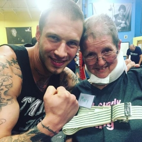Evan working with Rock Steady Boxing to help fight back against Parkinson's disease!