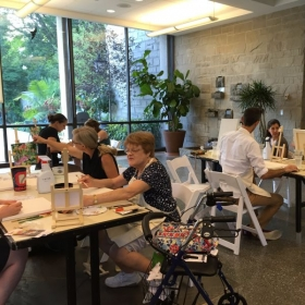 One of Jane's group classes at the Cleveland Botanical Garden for adults.