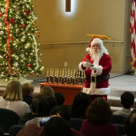 Santa had a surprise for our little performers on the 2016 Annual Christmas Recital!