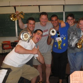 with all the trumpet students!!