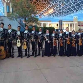 Me with my mariachi group, Mariachi San Jose. I'm the violinist next to the trumpet.