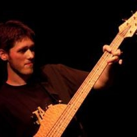 Playing my great bass