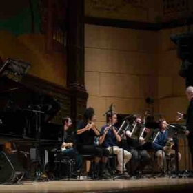 Performing with Alvin Curren at Mills College