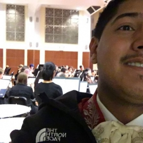 Quick selfie before performing with the Orchestra!