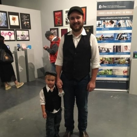 My little brother and I at our sister's art show in Downtown Riverside, CA.