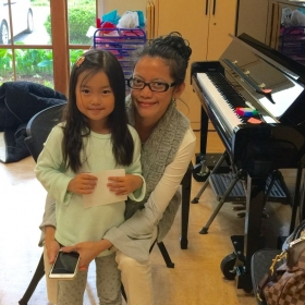 A pose with my 5 year old student.  Virginia 2016