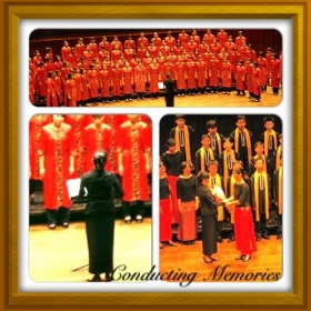 One of Ms Melody's Choral Conducting Performances in Singapore