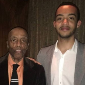 With master drummer, composer, musician- Roy Haynes