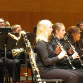 Playing in one of my ensembles in college