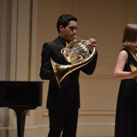 Playing Turner Fanfare for Barcs in Carnegie Hall