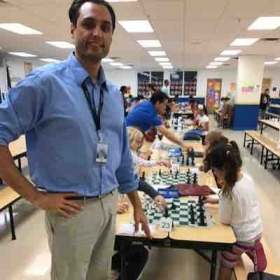 K-8 students where having a blast in the final rounds, at a large chess tournament I was directing.