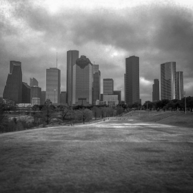 Houston downtown, Lightroom editing