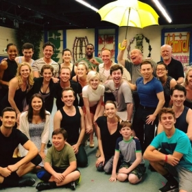 "Cast picture from ""Singing in the Rain"" at North Shore."