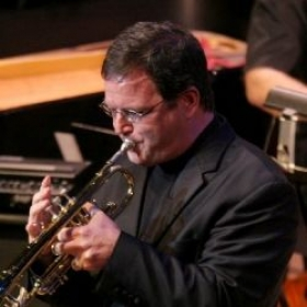 In a performance with the Texas Music Festival Jazz Project.