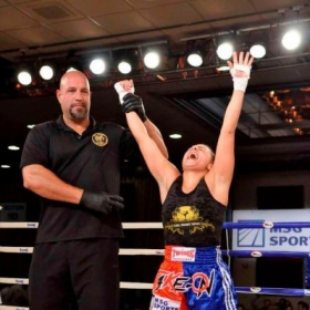 Prairie Rugilo is the 1st female kickboxer in NJ history to KO her opponent at Ballys Casino in Atlantic City, NJ