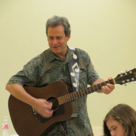 Brian Teaching Guitar Class for the Montgomery County Recreation Department