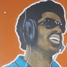 Stevie Wonder - acrylic on canvas