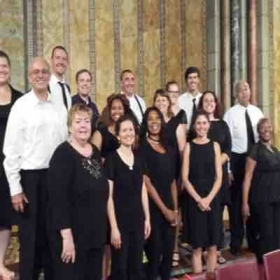 Members of the community chorus I conduct, after participating in a successful concert in NY, NY!