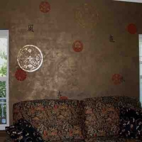 Plaster and stencils