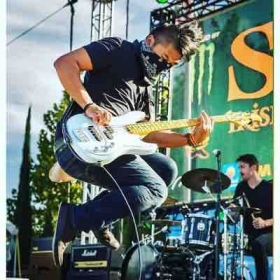 Playing with Quel Bordel at the Get Shamrocked Festival