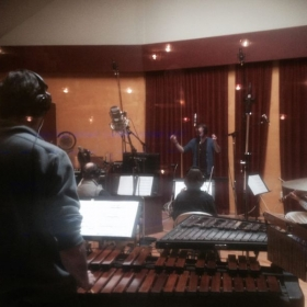 Recording an original composition in Seattle!