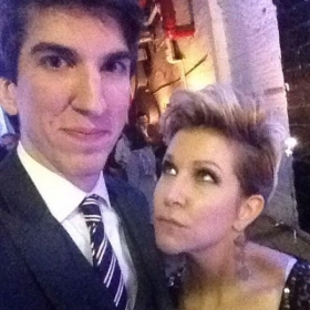Obligatory selfie with the illustrious mezzo-soprano Joyce DiDonato!