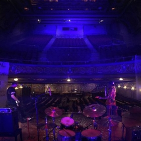 Soundchecking at the POP Montreal Festival at the Rialto Theatre in Canada