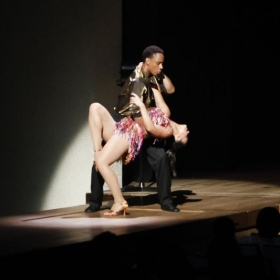 Scene from DISCO QUEEN with Vissi Dance Theater in Japan 2016