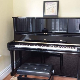 The piano studio!