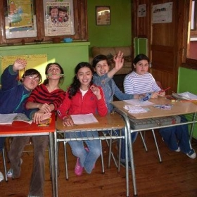 Students during our after school English class in Chile