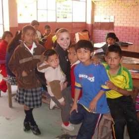 My Peruvian students taking a break from getting a head start on their homework to pose for a picture :)
