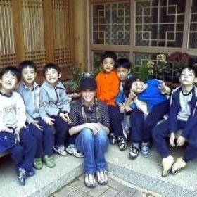 My second graders on a field trip in Korea