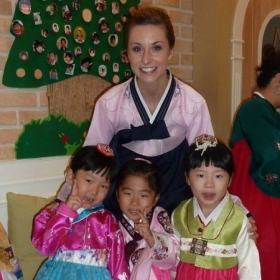 With my little ones celebrating Chuseok in Korea