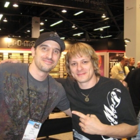 Me with one of my drum instructors at MI, Ray Luzier from Korn.