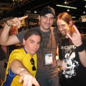 With my teacher and friend Jason Rullo from Symphony X and Dirk Verbeuren of (at the time Soilwork) now Megadeth.