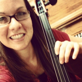 A selfie during my cello practice.